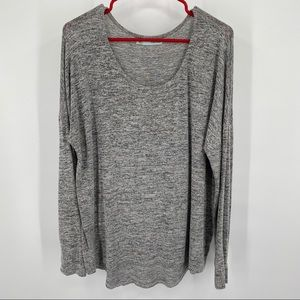 Maurices Gray Pullover Scooped Neck Top Large